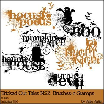 Tricked Out Titles No. 02 Brushes And Stamps
