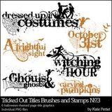 Tricked Out Titles No. 03 Brushes And Stamps
