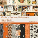 Words And Pictures Halloween Paper Pack