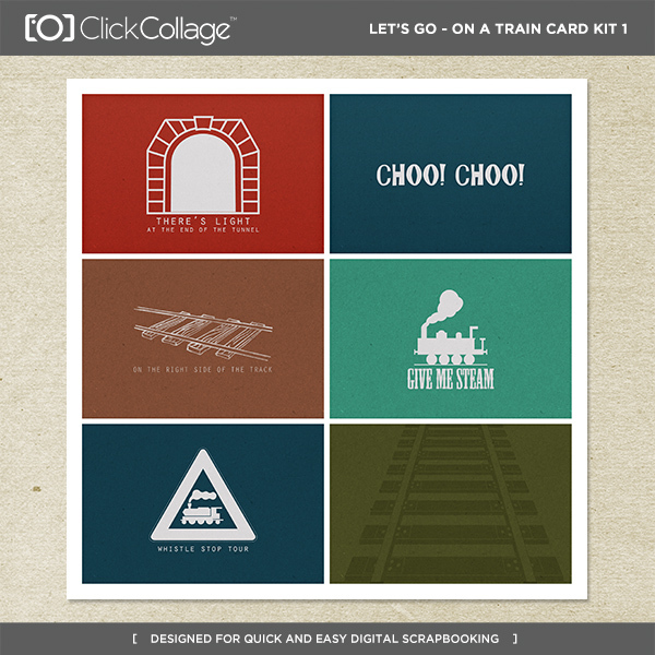 Let's Go On A Train Card Kit 1