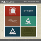 Let's Go On A Train Card Kit 1