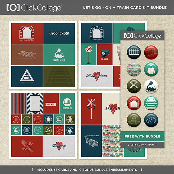 Let's Go On A Train Card Kit Bundle