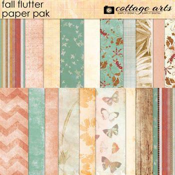 Fall Flutter Paper Pak