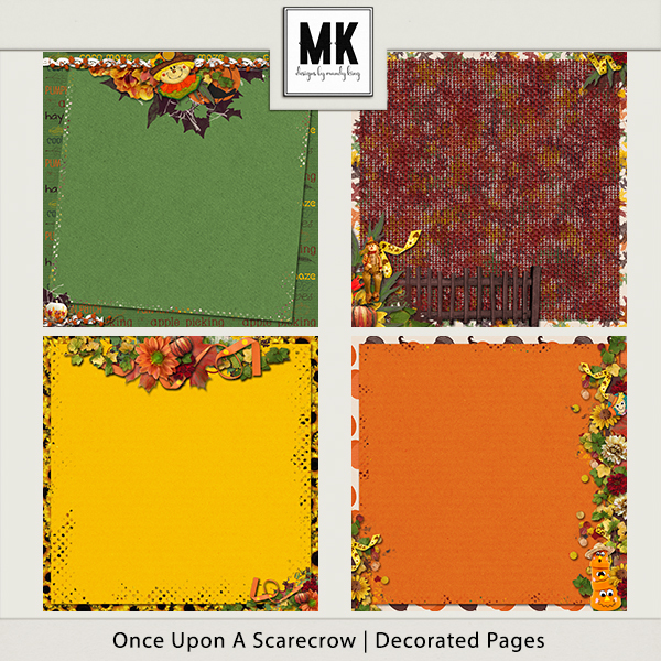Once Upon A Scarecrow - Decorated Papers
