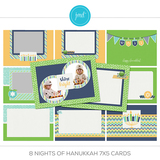 8 Nights Of Hanukkah 7x5 Cards