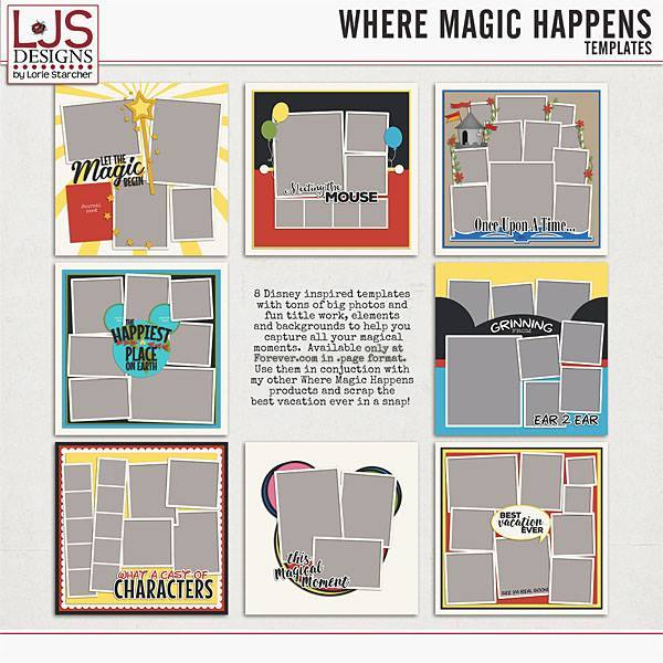 Where Magic Happens - Templates Digital Art - Digital Scrapbooking Kits