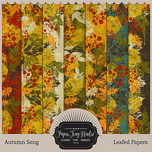 Autumn Song Papers - Leafed Papers