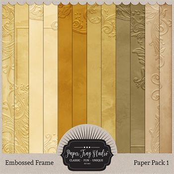 Embossed Frame Papers - Set 1 Digital Art - Digital Scrapbooking Kits