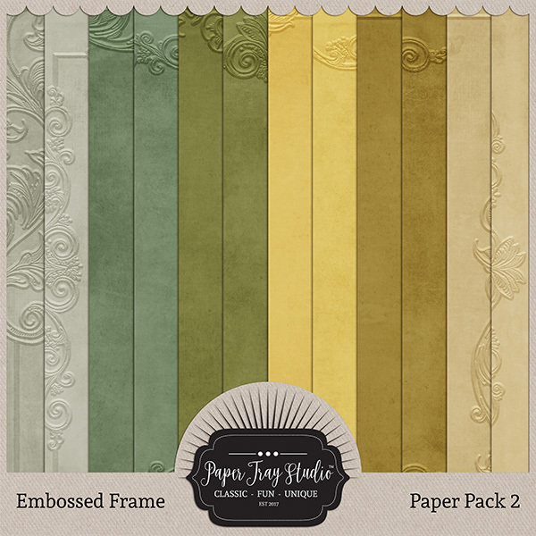 Embossed Frame Papers - Set 2 Digital Art - Digital Scrapbooking Kits