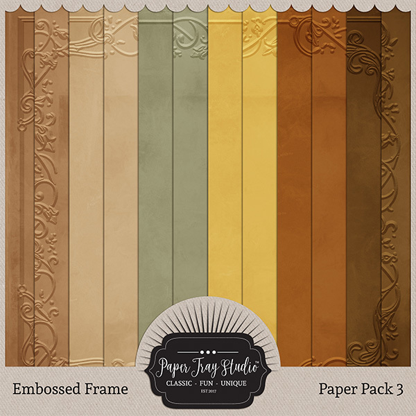 Embossed Frame Papers - Set 3 Digital Art - Digital Scrapbooking Kits
