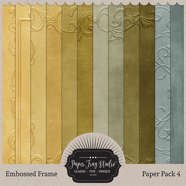 Embossed Frame Papers - Set 4 Digital Art - Digital Scrapbooking Kits