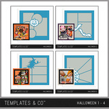 Halloween Template Bundle 1 - 4