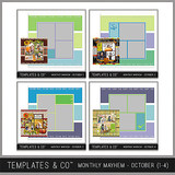 Monthly Mayhem October Bundle - Templates 1 - 4
