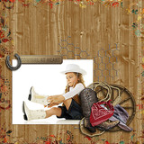 Wild West Hero - Leather Embossed Papers 2