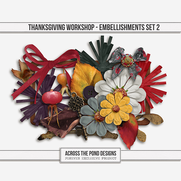 Thanksgiving Workshop - Element Set 2 Digital Art - Digital Scrapbooking Kits