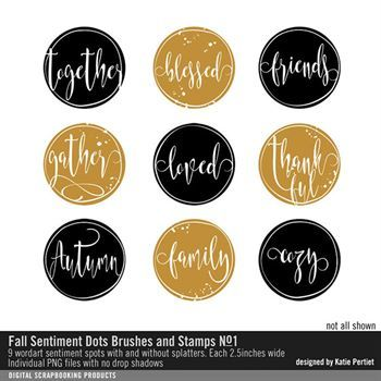 Fall Sentiment Dots Brushes And Stamps No. 01