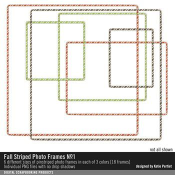 Fall Striped Photo Frames Value Pack No. 01