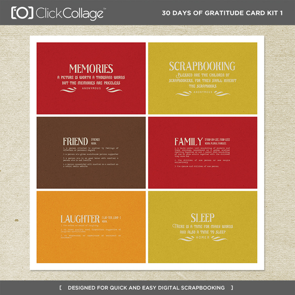 30 Days Of Gratitude Card Kit 1