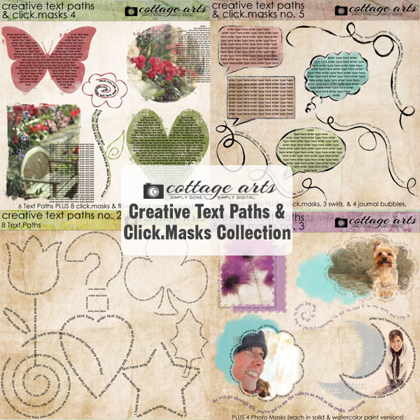 Creative Text Paths & Click.Masks Collection
