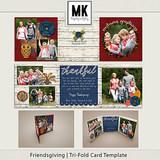 Friendsgiving - Tri-fold Card Template