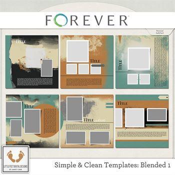 Clean And Simple Templates - Beautifully Blended 1 Digital Art - Digital Scrapbooking Kits