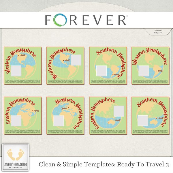 Clean And Simple Templates - Ready To Travel 3 Digital Art - Digital Scrapbooking Kits