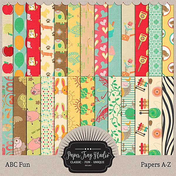 ABC Fun Papers Digital Art - Digital Scrapbooking Kits