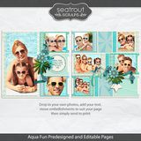 Aqua Fun Predesigned And Editable Pages
