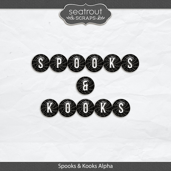 Spooks And Kooks Alpha Set Digital Art - Digital Scrapbooking Kits