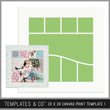 20 X 20 Canvas Print Template 1