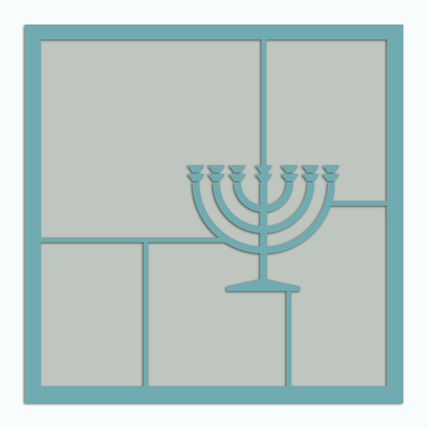 Happy Hanukkah Template 2 Digital Art - Digital Scrapbooking Kits