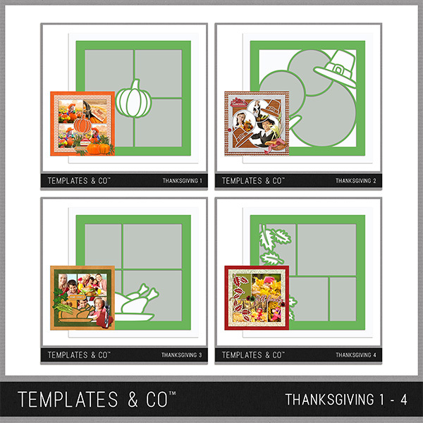 Thanksgiving Template Bundle 1 - 4