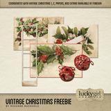 Vintage Christmas Freebie