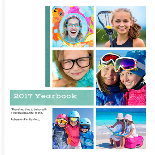 Modern and Bright Yearbook