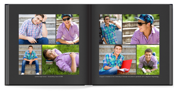 Simple Black Plus Photo Book