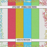 Little Chef - Sprinkled Edge Papers