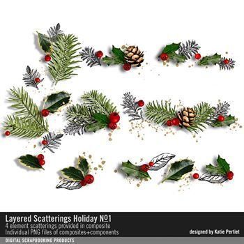 Layered Scatterings Holiday No. 01