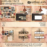 Gratitude 12x12 Pre-designed Book