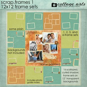 Scrap.frames 1 - 12 X 12 Frame Sets Digital Art - Digital Scrapbooking Kits