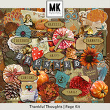 Thankful Thoughts - Page Kit