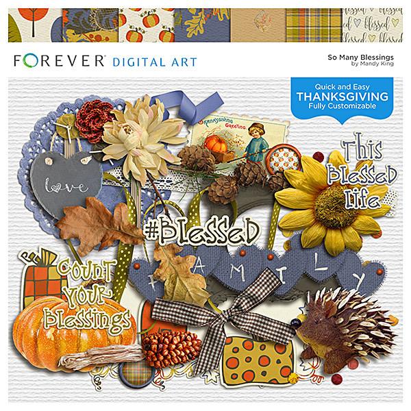 So Many Blessings Digital Art - Digital Scrapbooking Kits