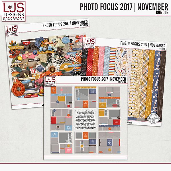 Photo Focus 2017 - November Bundle Digital Art - Digital Scrapbooking Kits