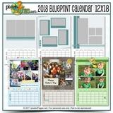 2018 Blueprint Calendar 12x18