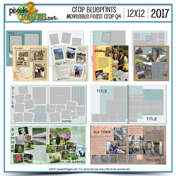 Crop Blueprints - Moveable Feast Q4 2017 12x12