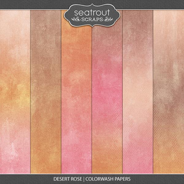 Desert Rose Colorwash Papers
