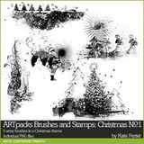 Artpacks Brushes And Stamps Christmas No. 01