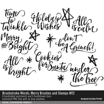 Brushstroke Words Merry Brushes And Stamps No. 02
