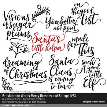 Brushstroke Words Merry Brushes And Stamps No. 03