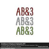 Chalkboard Chipboard Alphabets No. 01