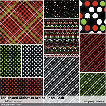 Chalkboard Christmas Add-on Paper Pack